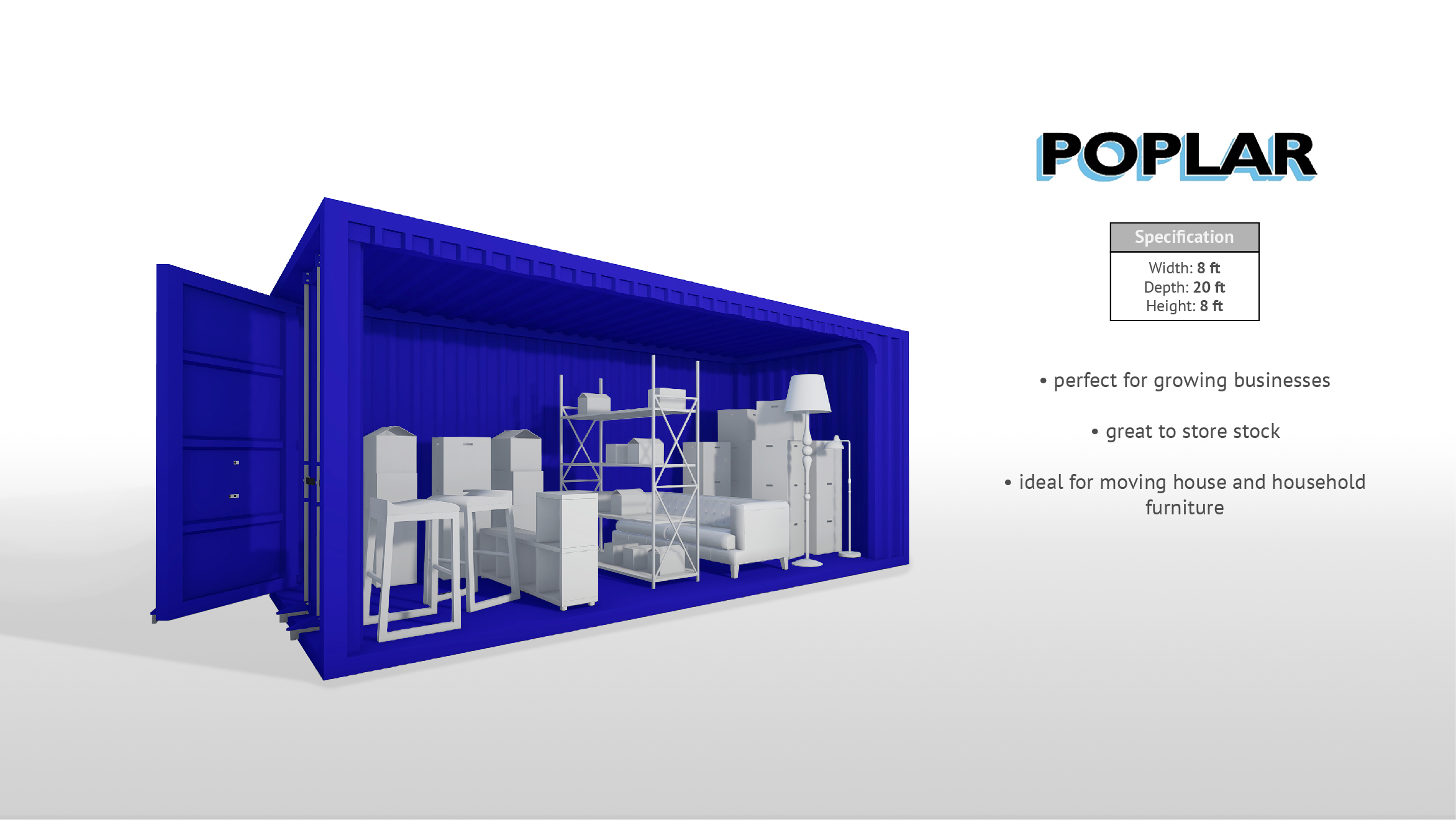 20ft x 8ft Storage Container
