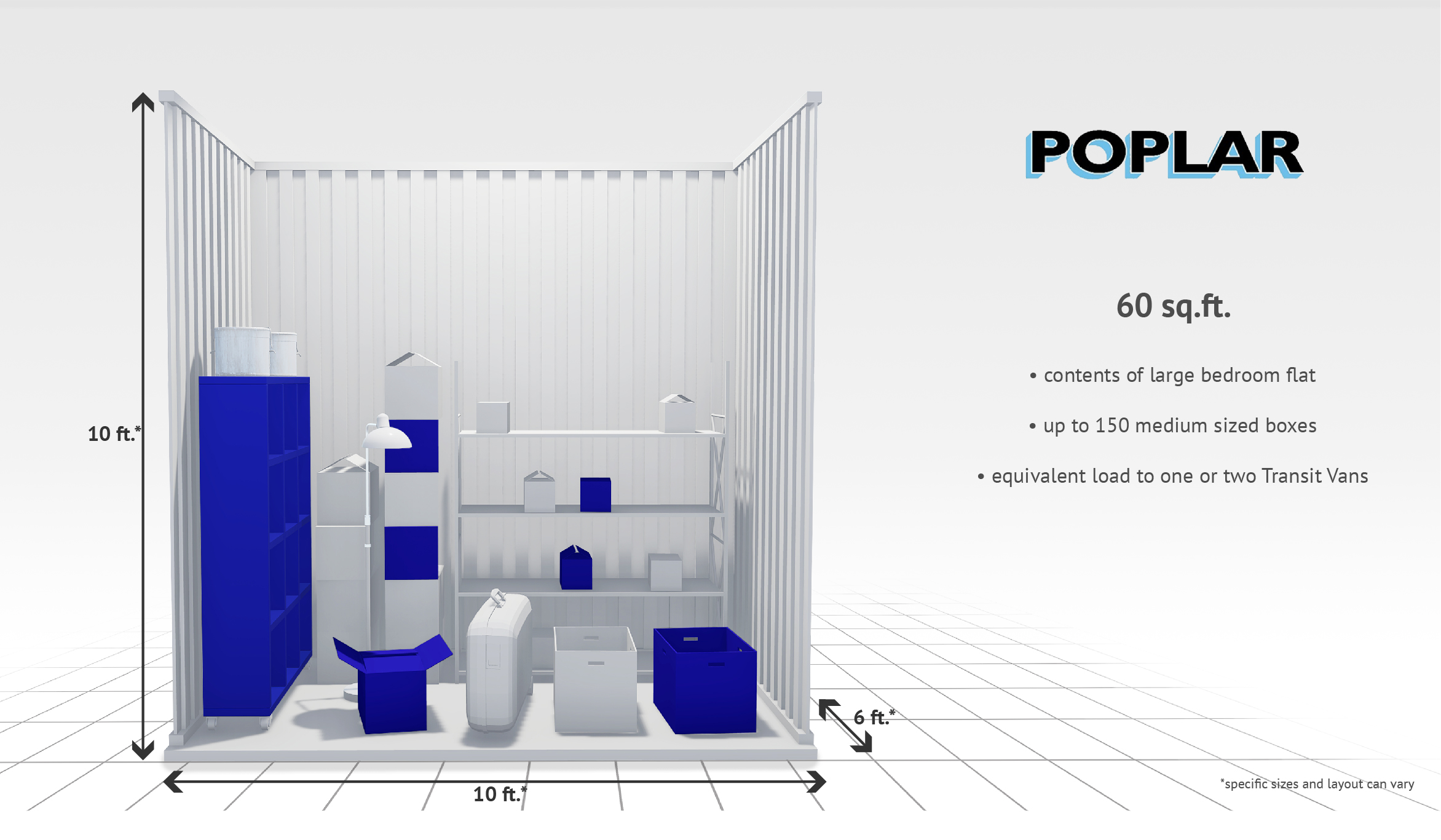 60 sq ft Internal Storage Unit