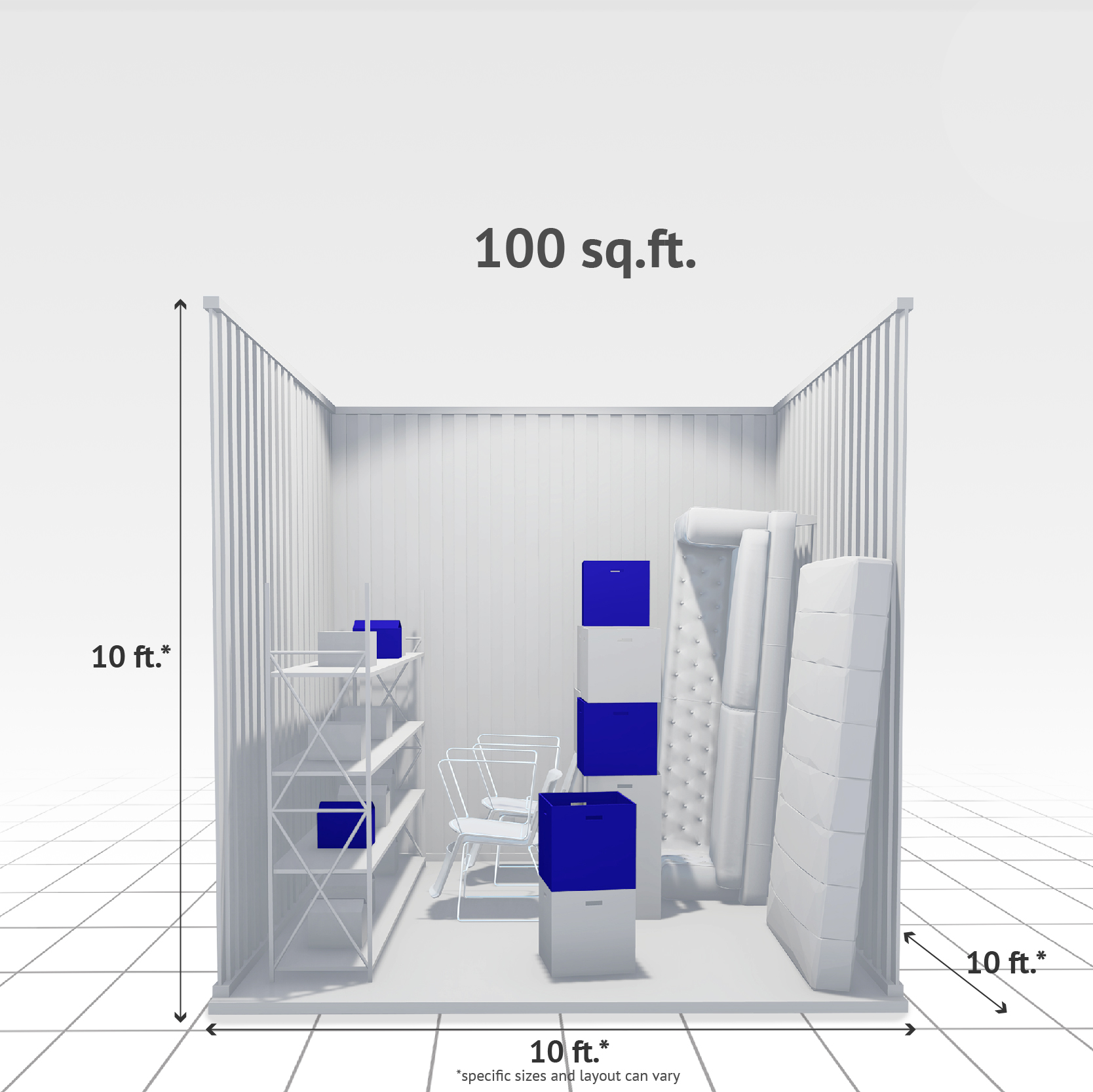 100 sq ft Internal Storage Unit