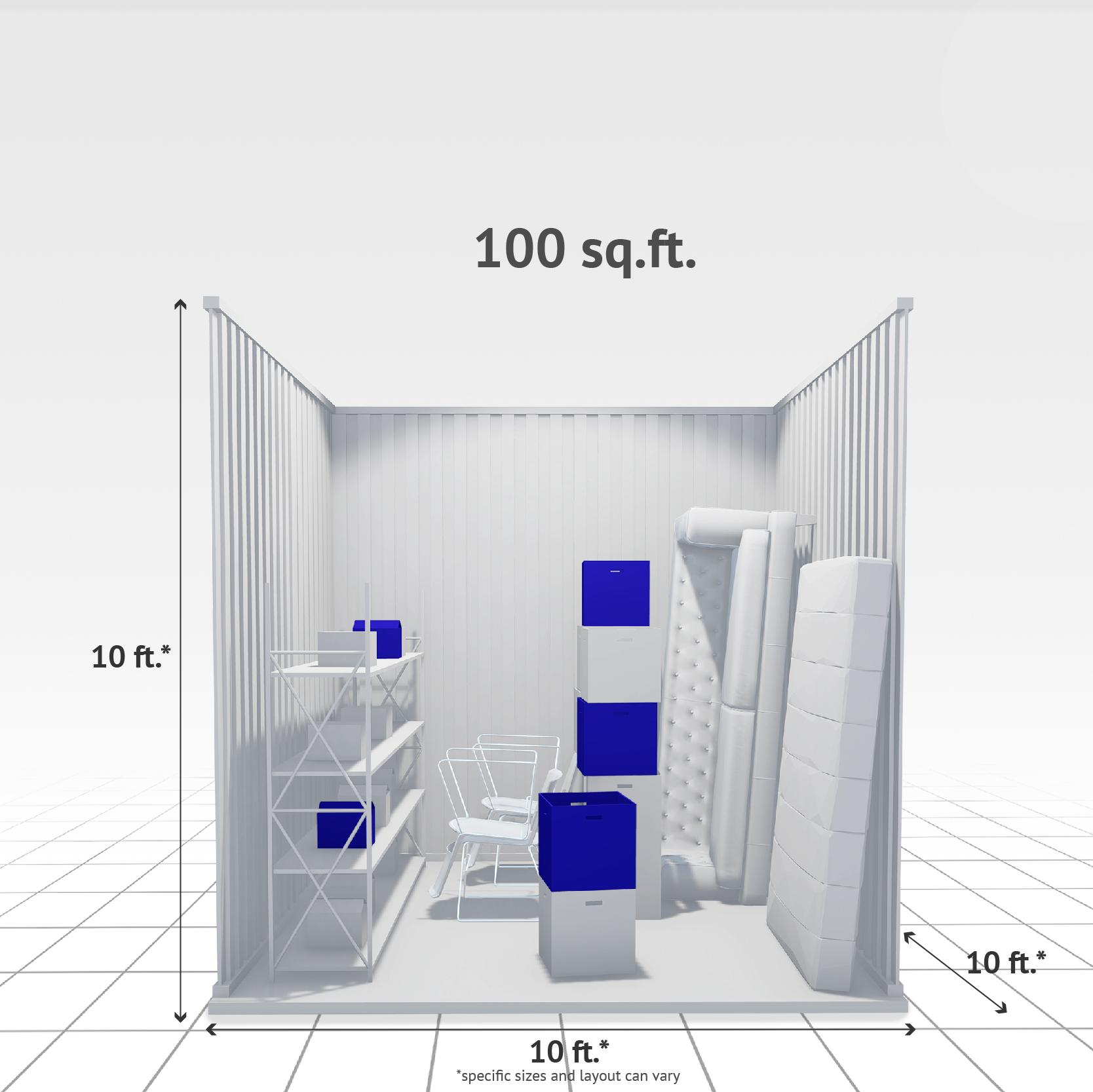 100 sq ft Internal Storage Unit