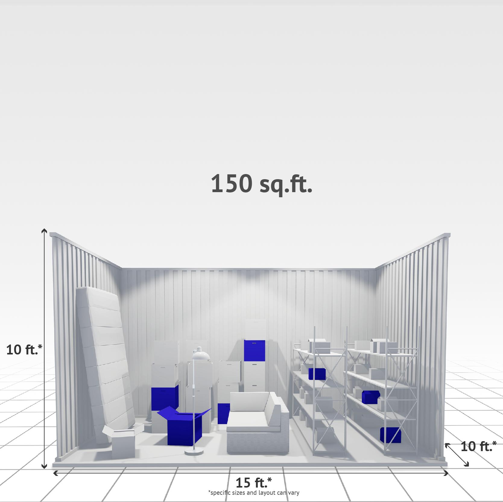 150 sq ft Internal Storage Unit