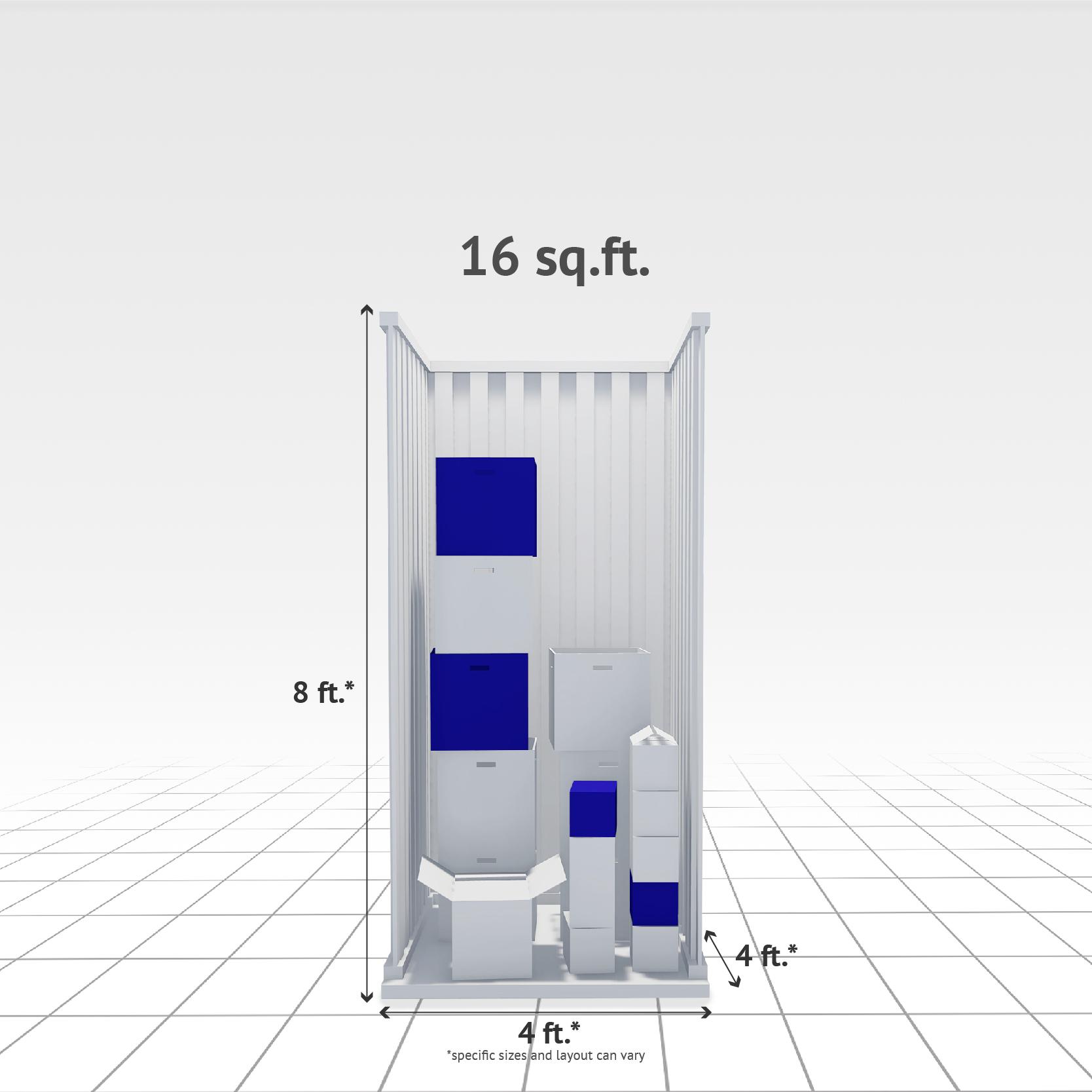 16 sq ft Internal Storage Unit