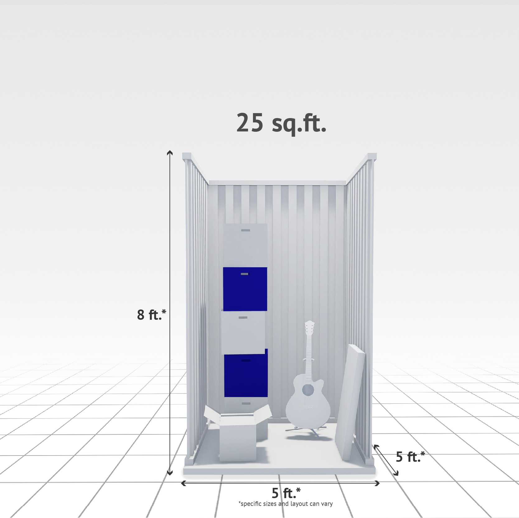 25 sq ft Internal Storage Unit
