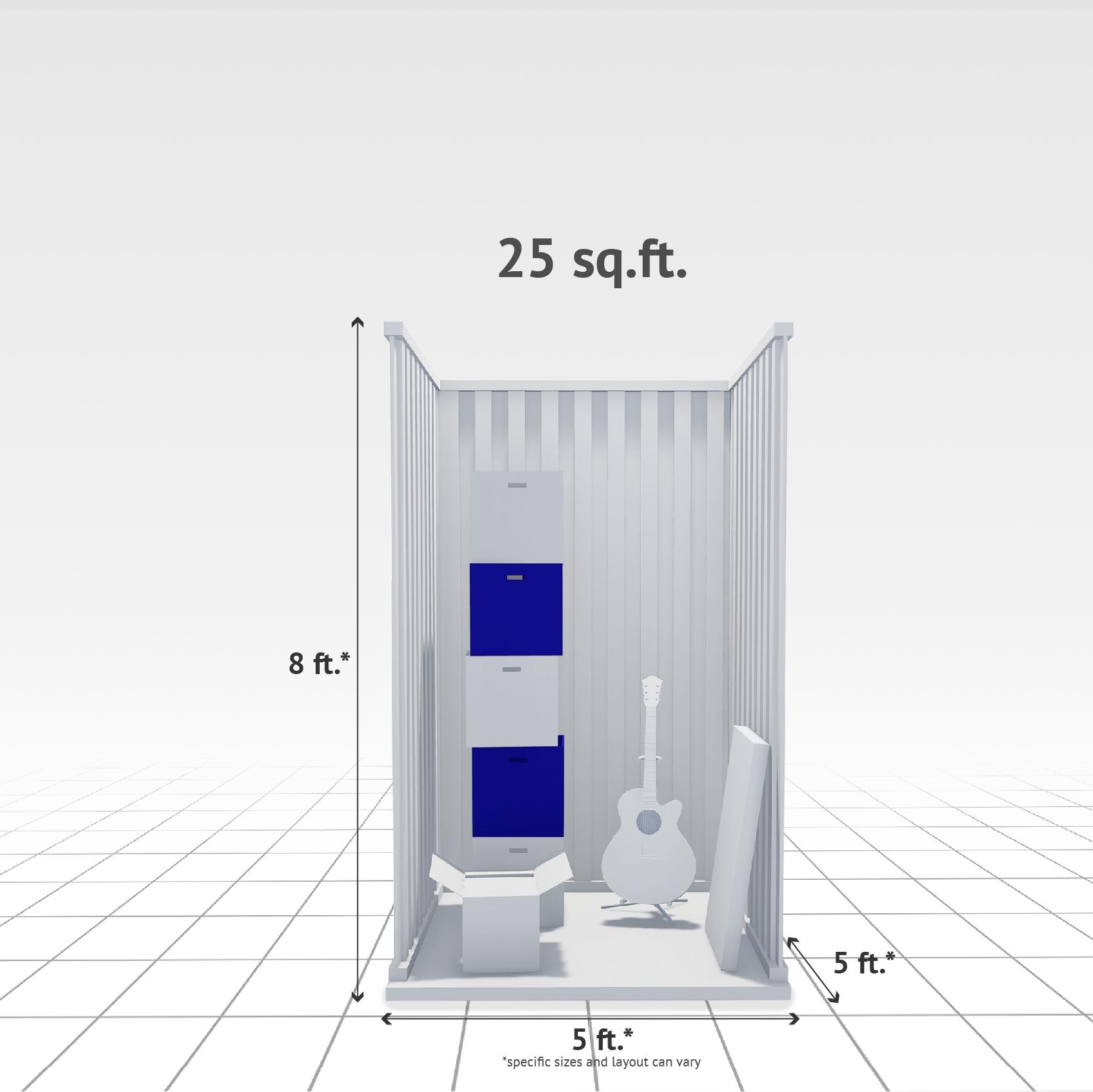 25 sq ft Internal Storage Unit