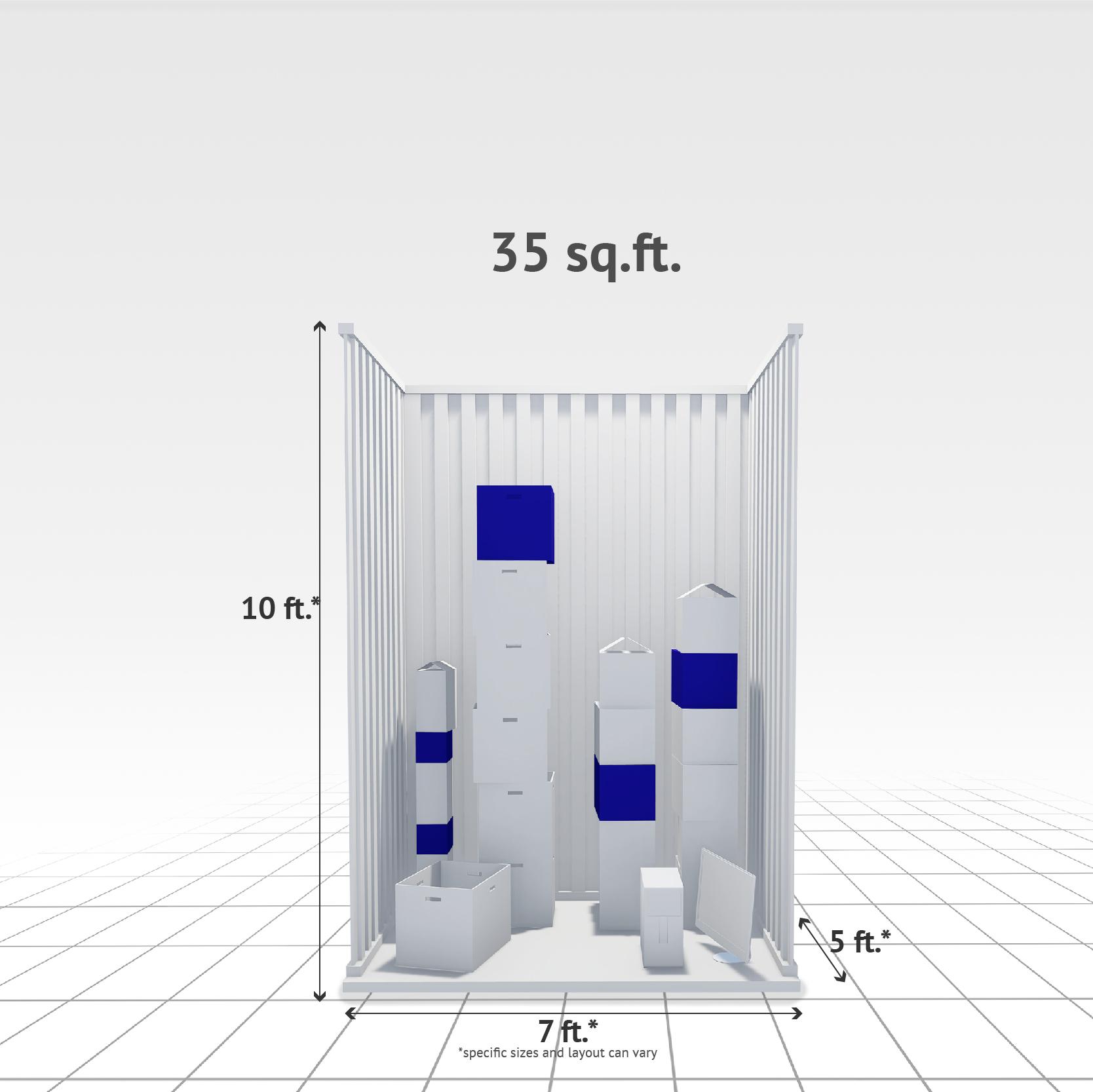 35 sq ft Internal Storage Unit