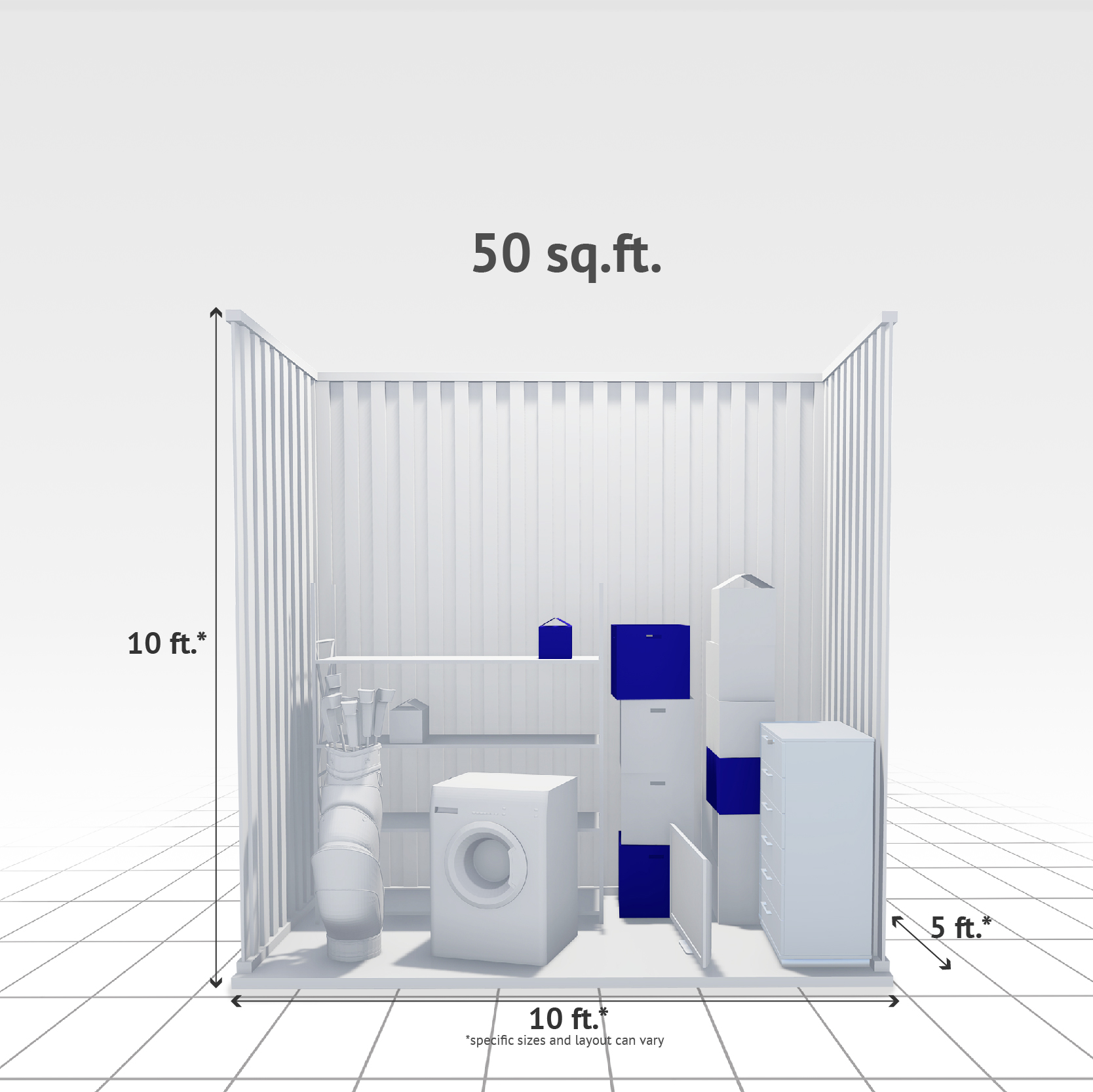 50 sq ft Internal Storage Unit