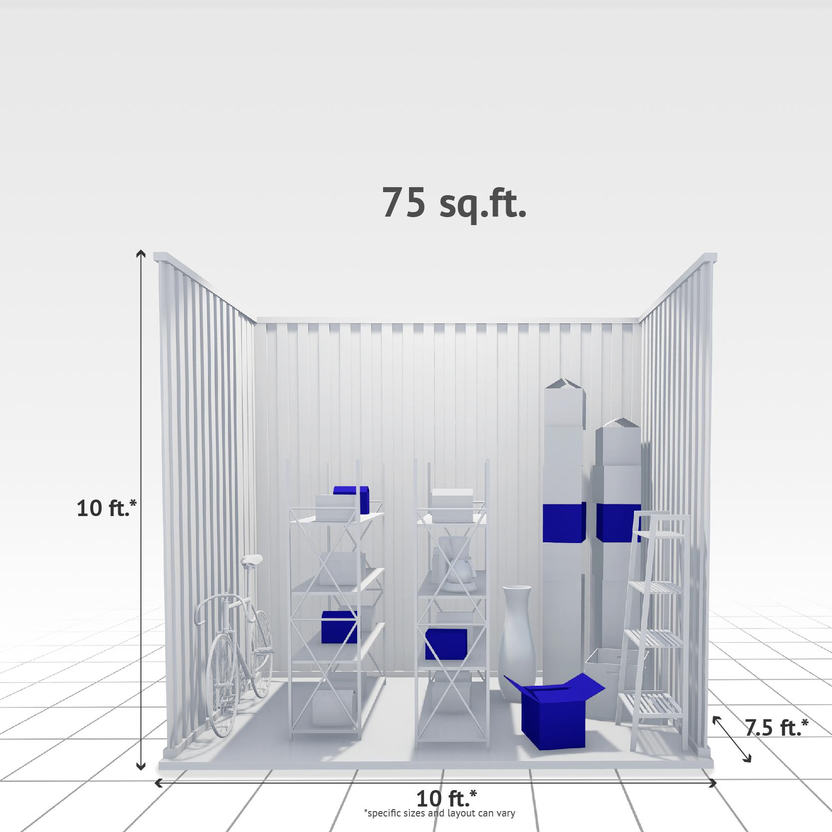 75 sq ft Internal Storage Unit