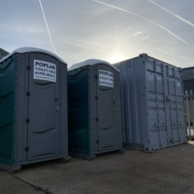 Site Toilets & 10ft Container
